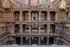 Ranis ki vav, ein stepwell auf den Banken von Saraswati-Fluss in Patan Eine UNESCO-Welterbestätte in Indien stockfotos