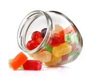Ranja com doces da cor Fotos de Stock