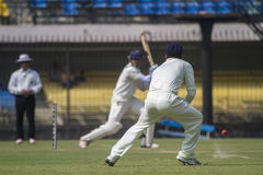 Ranji Cricket Match in India Stock Photo