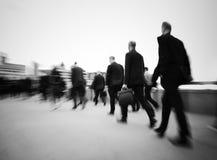Ranków dojeżdżających godziny szczytu Londyński pojęcie Obraz Royalty Free