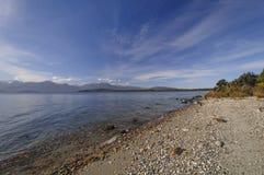 Ranków kolory na Halnym jeziorze Zdjęcia Royalty Free