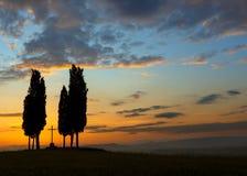 Ranków kolory w Tuscany fotografia royalty free