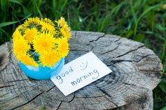 Ranków kwiaty Obraz Royalty Free
