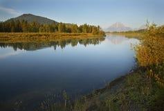 Ranków odbicia na wąż rzece, góry, Teton obywatela Pa Zdjęcie Stock