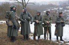 Rank German fascist soldiers Stock Image