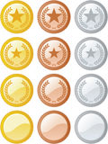 Rank Graphics. In gold, bronze, and silver Stock Photography