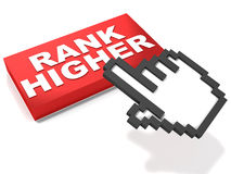 Rank high in serps. SERPS or search engine results page ranking concept, the backbone of web based businesses Royalty Free Stock Photography