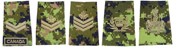 Rank Insignia Set Stock Photo
