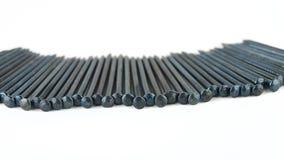 Rank of nails Stock Image