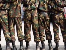 rank soldatsystem för folk Arkivbild