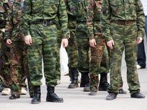 rank soldatsystem för uppdelning Royaltyfri Fotografi