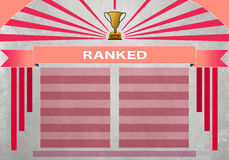 Ranked pink Stock Photo
