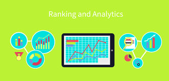 Ranking and Analytics Design Concept Stock Photo