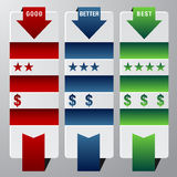 Ranking Assessment Chart. An image of a rank assessment chart vector illustration