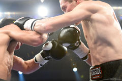 Ranking boxing fight in Palace of sport Royalty Free Stock Images