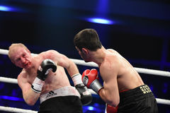 Ranking boxing fight in Palace of sport Royalty Free Stock Photography