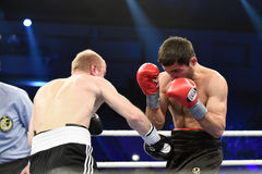 Ranking boxing fight in Palace of sport Royalty Free Stock Photo