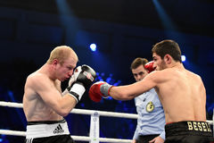 Ranking boxing fight in Palace of sport Stock Image