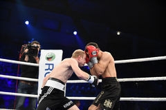Ranking boxing fight in Palace of sport Stock Photography