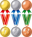 Ranking medal set Royalty Free Stock Photo