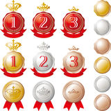 Ranking medal set Stock Photos
