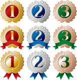 Ranking medal set Stock Photo