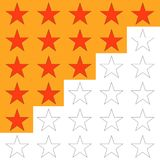 Ranking, rating five stars, to rank. Flat design, vector illustration, vector Royalty Free Stock Images