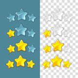 Ranking stars. Vector game elements in cartoon style Stock Photo
