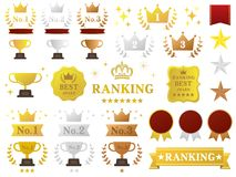 Ranking set royalty free illustration