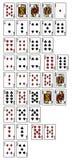 Rankinng-Hände des Pokers Lizenzfreies Stockfoto