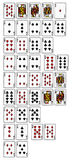 Rankinng hands of poker Royalty Free Stock Photo