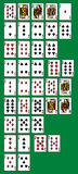 Rankinng hands of poker Stock Images