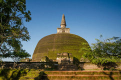 Rankot Vehera Dagoba, Sri Lanka, Asia. Ancient City of Polonnaruwa, Rankot Vehera Dagoba, UNESCO World Heritage Site, Sri Lanka, Asia Royalty Free Stock Photos