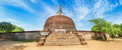 Rankoth Vehera. Polonnaruwa. Sri Lanka. Panorama Stock Image