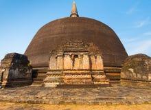 Rankoth Vehera Stupa Front Polonnaruwa Buddhist Stock Images