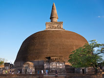 Rankoth Vehera stupa in Polonnaruwa Royalty Free Stock Photo