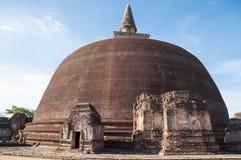 Rankoth Vehera w antycznym mieście Polonnaruwa, Sri Lanka. Unesco światowego dziedzictwa miejsce Fotografia Stock