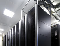 Ranks modern supercomputers in the computational data center Royalty Free Stock Images