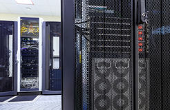 Ranks modern supercomputers in computational data center. Ranks modern supercomputers in the computational data center stock image