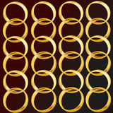 Ranks of rings Stock Photos