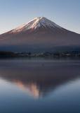 Ranku światło góry Fuji odbicie Obraz Stock