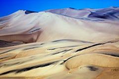 Ranku światło na Krajowym zabytku Wielkim piasek diun Pres i Obraz Stock