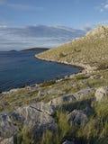 Ranku światło na wyspie Zdjęcie Royalty Free
