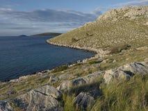 Ranku światło na wyspie Obraz Royalty Free