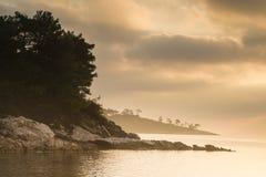 Ranku światło przy morzem Zdjęcie Royalty Free