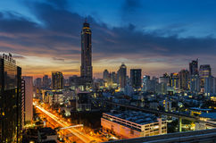 Ranku światło w Bangkok Fotografia Stock