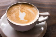 Ranku cappuccino Zdjęcie Royalty Free