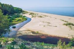 Ranku czas na morzu bałtyckim Obrazy Stock