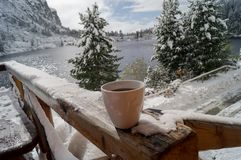 Ranku deptak Tatransky narodny park vysoke tatry Sistani zdjęcia stock