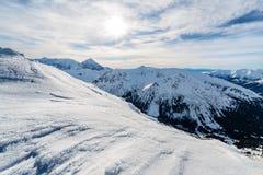 Ranku foto Lodowi skłony w wysokim Tatras Zdjęcie Stock
